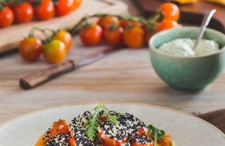 עגבניות שרי ממולאות גבינה